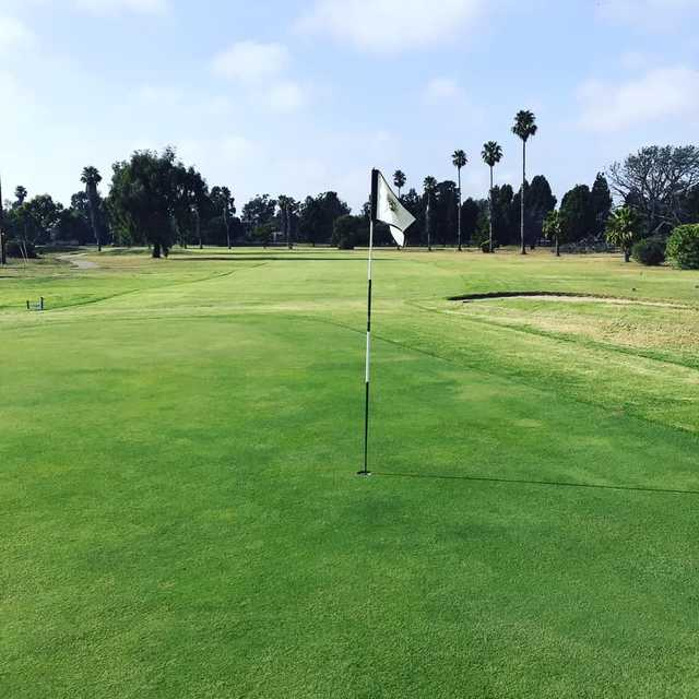 A view of hole #18 from NBVC Seabee Golf Course.