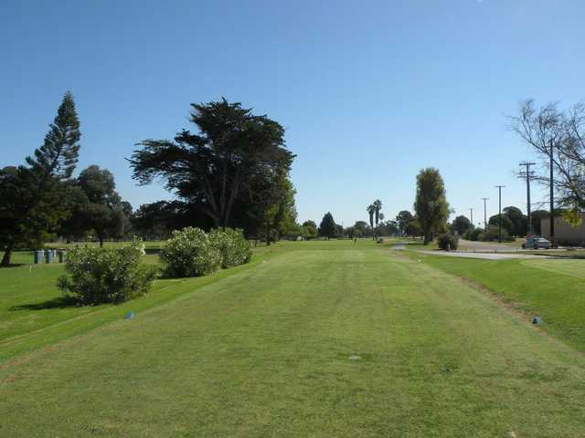 A view from the 1st tee at NBVC Seabee Golf Course.