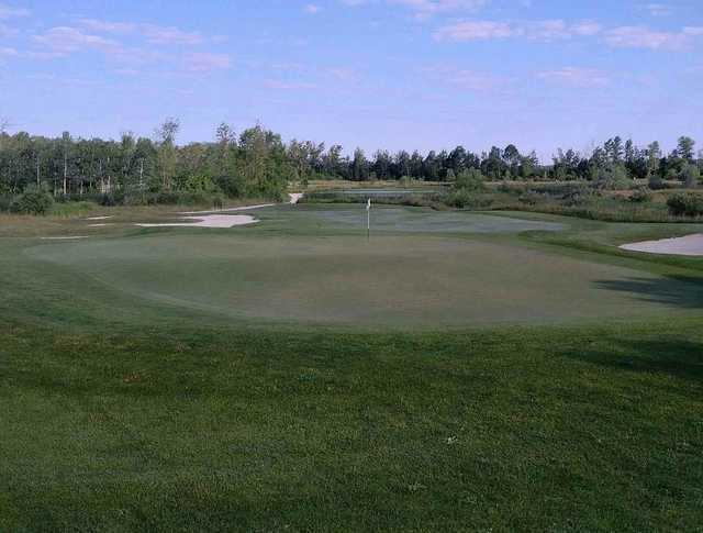 A view of a hole at Batteaux Creek Golf Club.