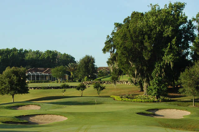 A view of the 10th hole at North Course from Lake Jovita Golf & Country Club.