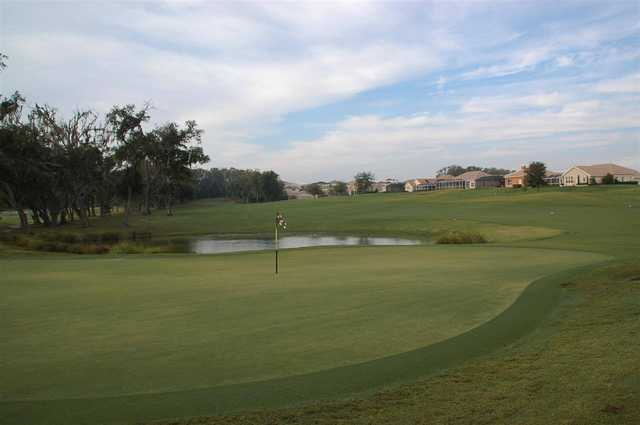 A view of a hole at Lake Jovita Golf & Country Club.