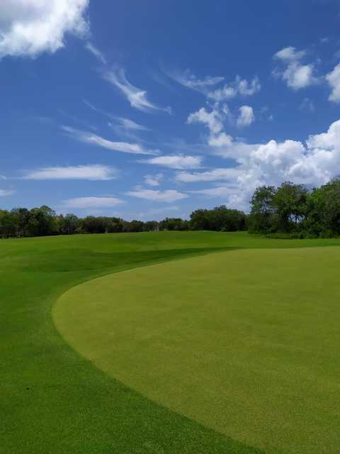 View from a green at Guavaberry Golf & Country Club.
