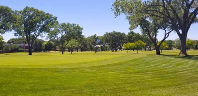 A view of a green at Colonial Park Golf Course.