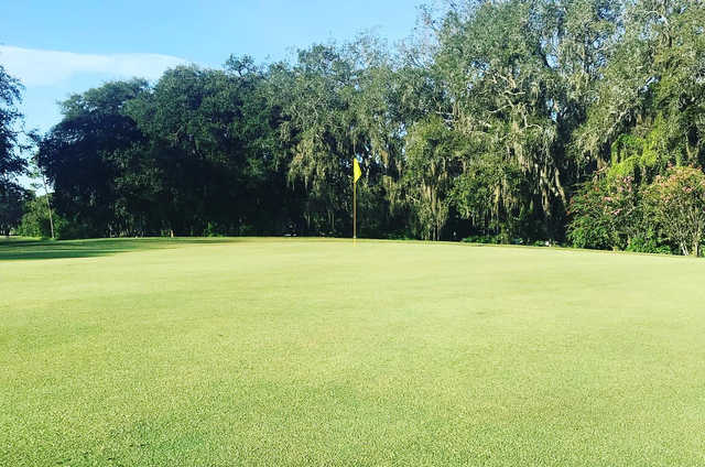A view of a hole at The Claw from University of South Florida Golf Course.