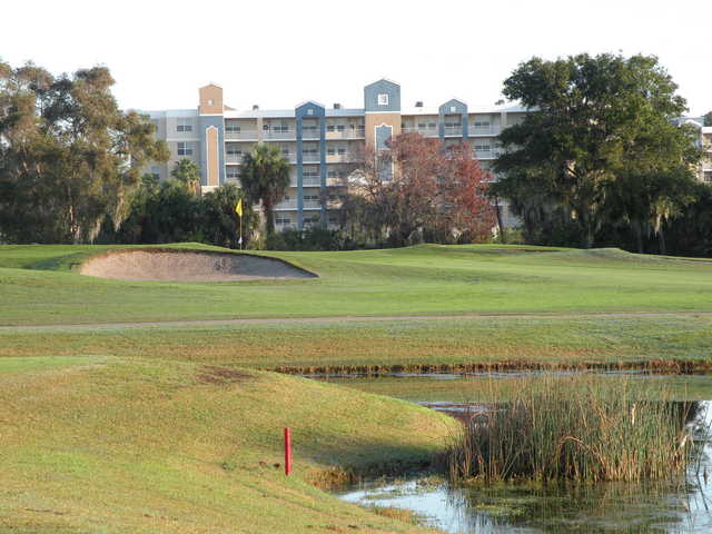A view of hole #13 at East Bay Golf Club.