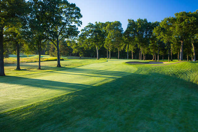 A view from the right side of fairway #10 at Bedford Valley Course at Gull Lake View Golf Club and Resort.