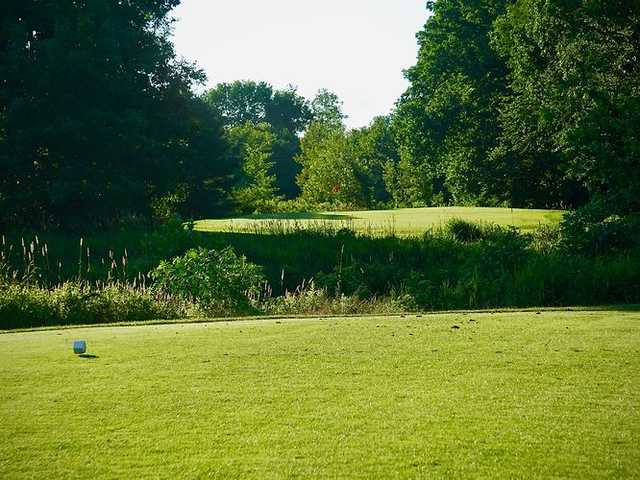 A view from a tee at Ponemah Green Family Golf Center.