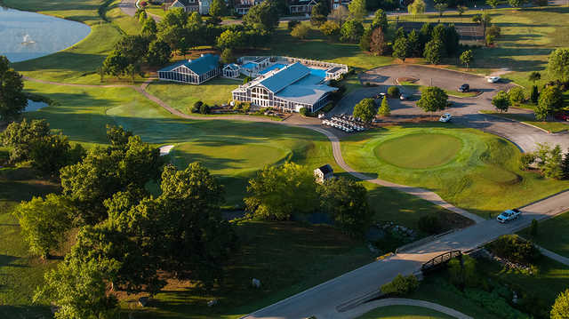 Aerial view from Ooltewah Club.