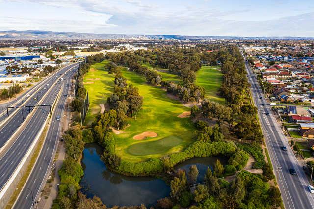 Aerial view from Regency Park Golf Club.