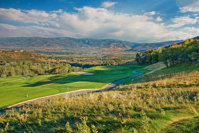 A view of a tee from Mountain at Wasatch Mountain State Park.