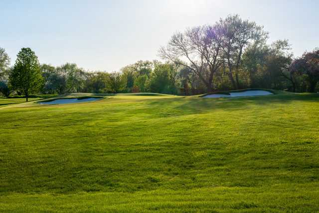 A view of green #5 at Baer Course from Schaumburg Golf Club.