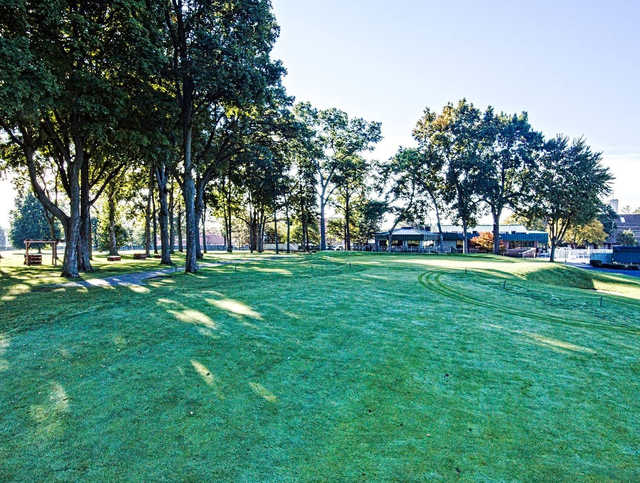 A view of a green at Christiana Creek Country Club.