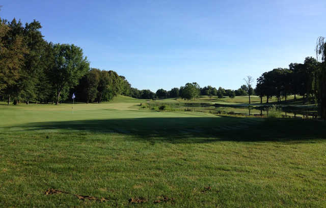 A view of a green at Harrison Hills Golf & Country Club.