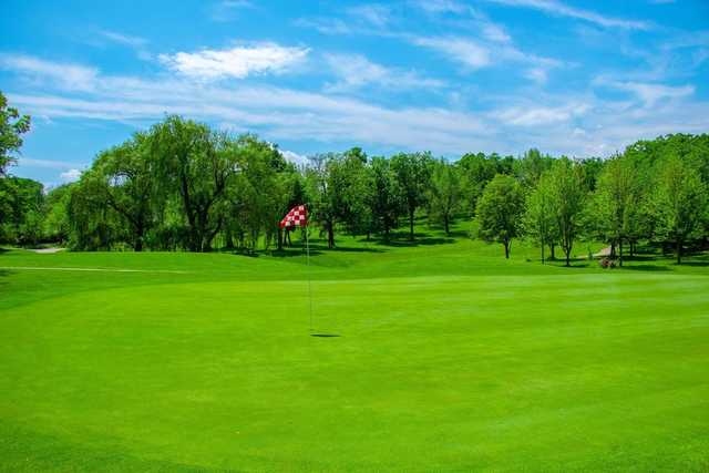 A view of a green at Hickory Hills Country Club.