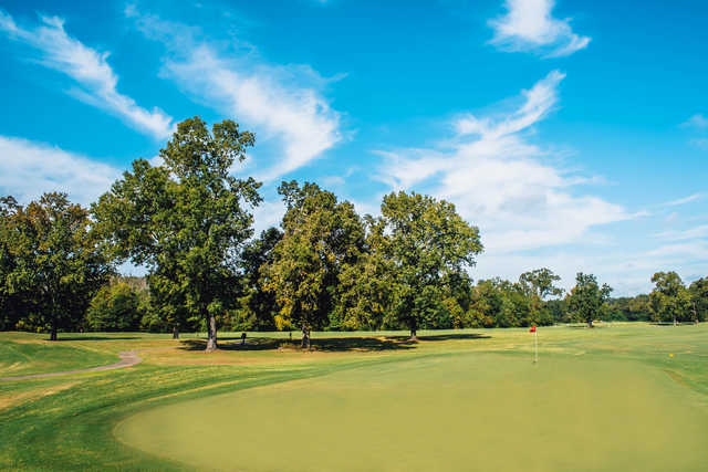 View from a green at J.S. Clark Park Golf Course.