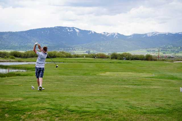 A view from a tee at The Links at Teton Peaks.