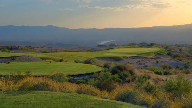 A view from a tee at Laughlin Ranch Golf Club.