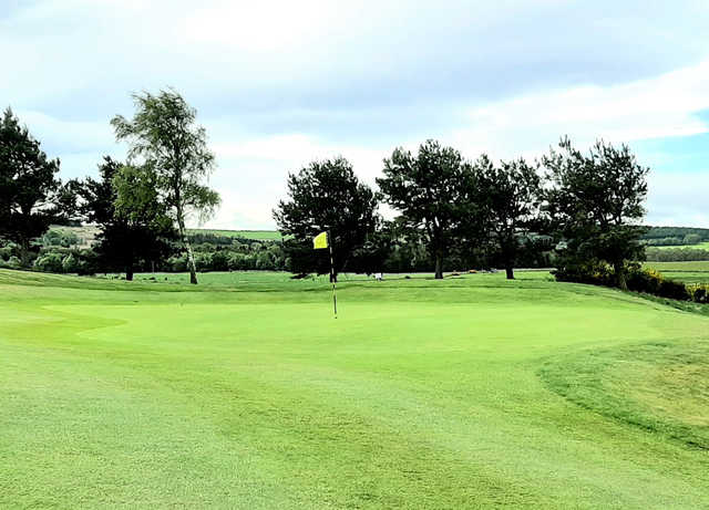 A view of a green at Kemnay Golf Club.