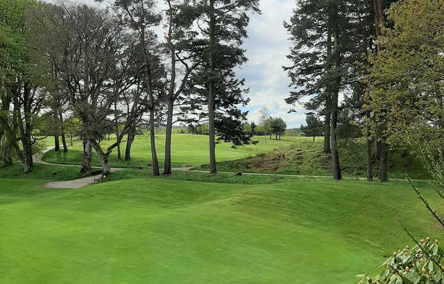 A view of hole #2 at Kemnay Golf Club.