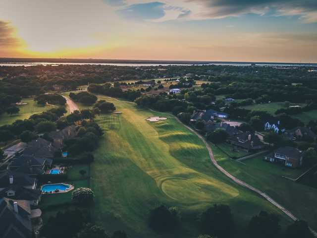 Aerial view of #5 on Buffalo Creek Golf Course