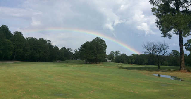 A view from the 1st fairway at Camden Country Club.