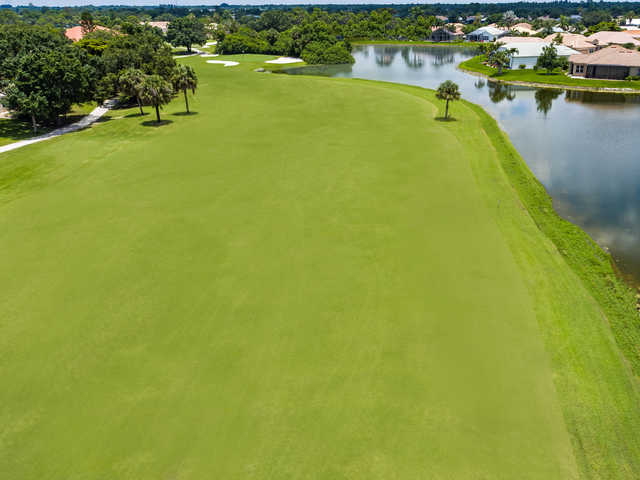 Aerial view from the 18th fairway at Seminole Lakes Country Club.