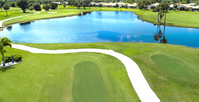 Aerial view from the 6th tee at Seminole Lakes Country Club.