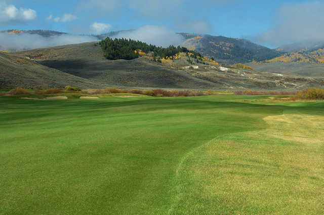 A view of fairway #17 at Grand Elk Golf Course.