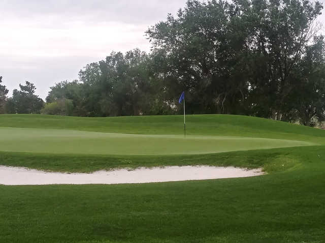 A view of a hole at Silver Sage Golf Course.