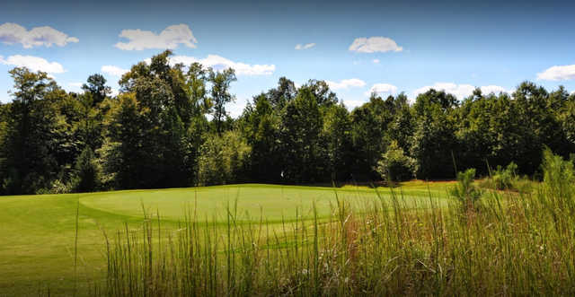 A view of a green at Olde Liberty Golf & Country Club.