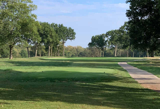 A view of a tee at Methodist College Golf Club.