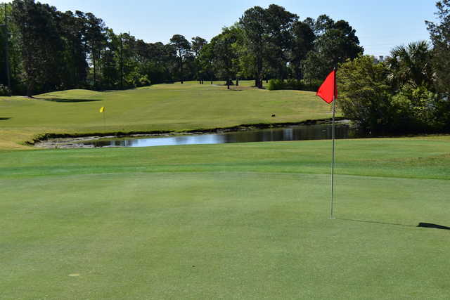 A view of the 4th green at Azalea Sands Golf Club.