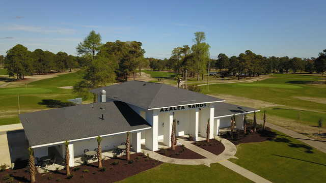Aerial view from Azalea Sands Golf Course.