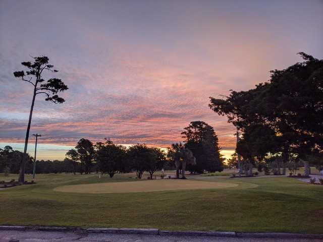 Sunrise view from Azalea Sands Golf Course.