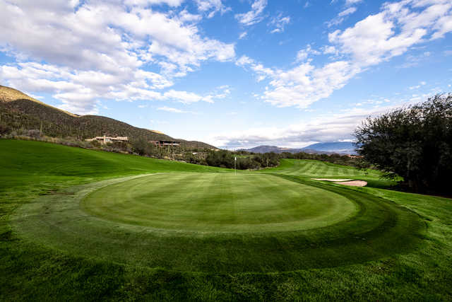 Looking back from a green at Arizona National Golf Club.