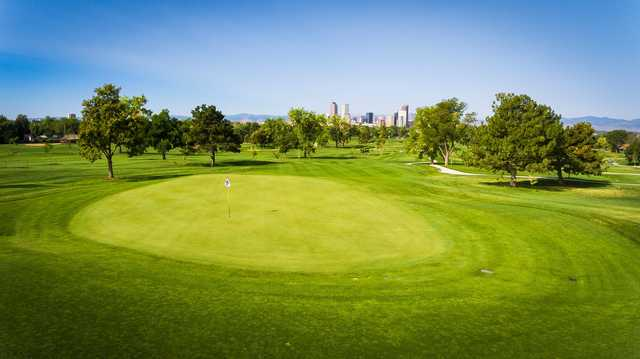 A view of a green at Denver City Park Golf Course.