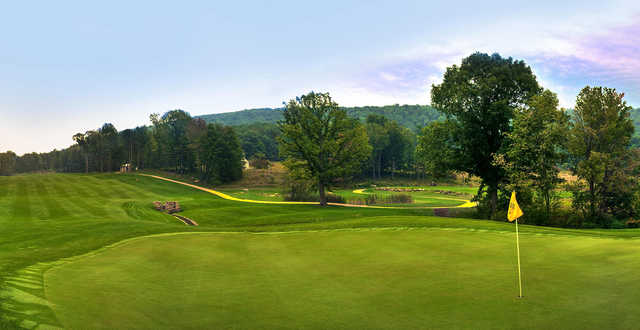 A view of the 10th hole at Fantasy Valley Golf Course.