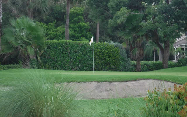 A view of a well protected hole at Jupiter Dunes Golf Course.