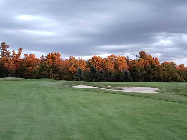 A fall day view from Mystic Golf Club.