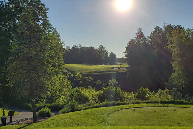 A view from a tee at Mystic Golf Club.