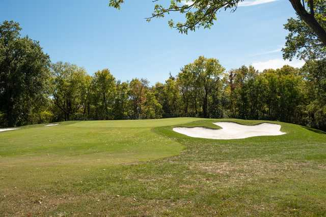 A view of a green at Oakwood Country Club.