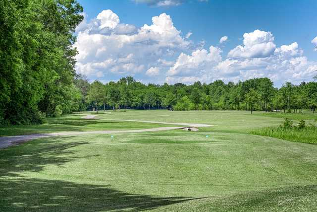 A view from tee #2 at Champions Run Golf Course.
