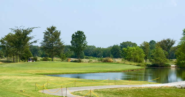 A view of the 13th green at Champions Run Golf Course.