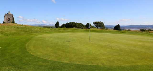 A view of a hole at Ulverston Golf Club.