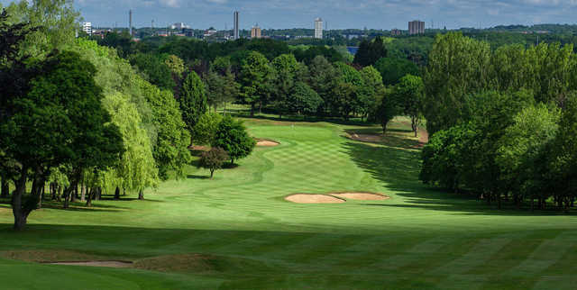 A view of a fairway at Knebworth Golf Club.