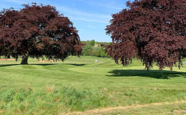 A view of a well protected green at Rufford Park Golf & Country Club.