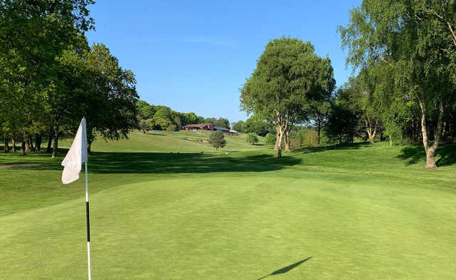A view from a green at Rufford Park Golf & Country Club.