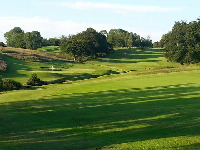 A view of hole #17 at Balfron Golf Club.