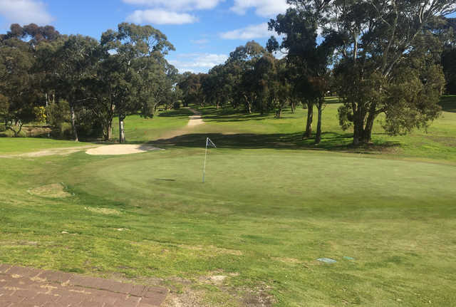 A view of a green at Flagstaff Hill Golf & Country Club.