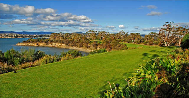 A view of tee #3 at Tasmania Golf Club.